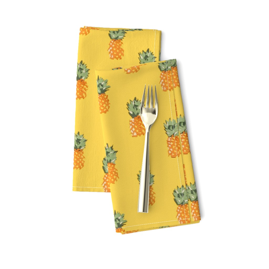 Amarela Dinner Napkins featuring Cuban Pineapples by imagineattic