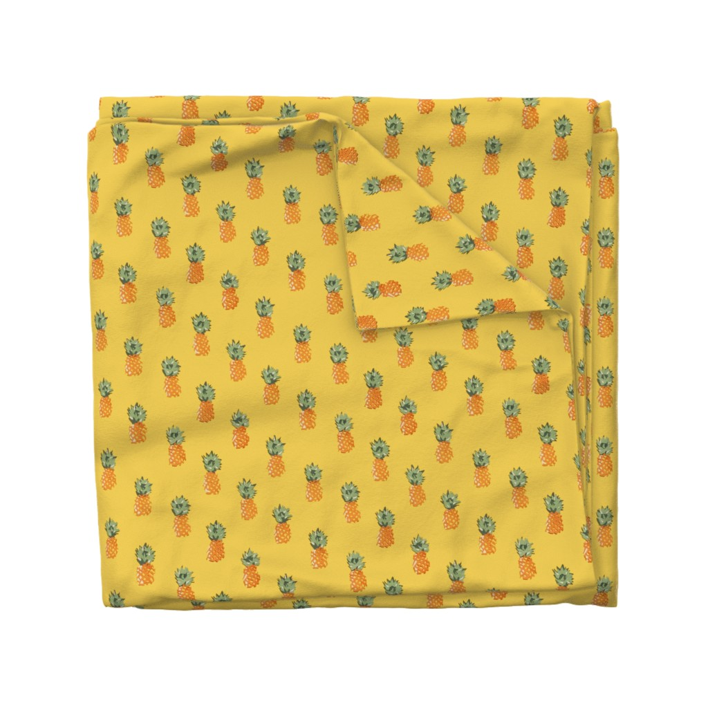 Wyandotte Duvet Cover featuring Cuban Pineapples by imagineattic
