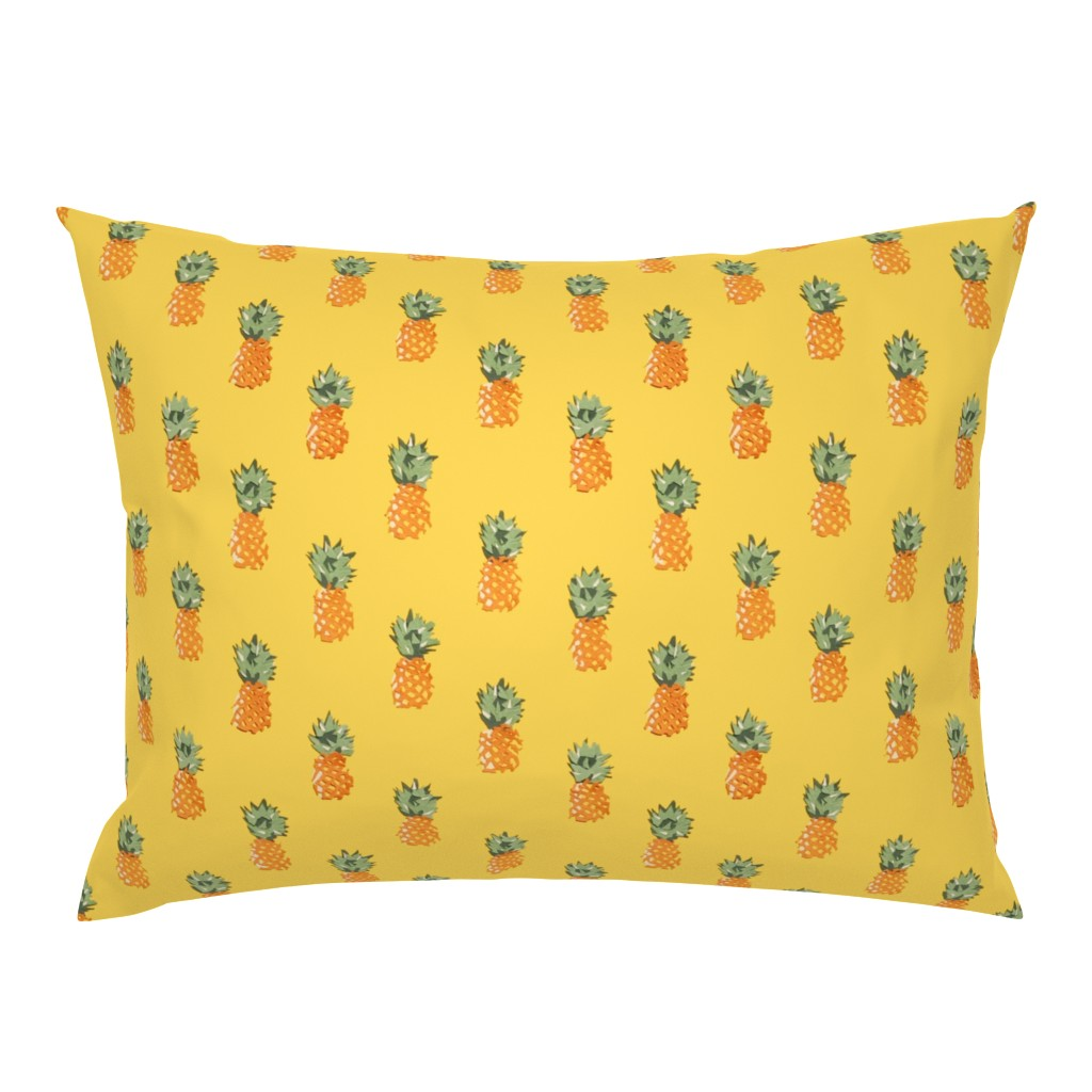 Campine Pillow Sham featuring Cuban Pineapples by imagineattic