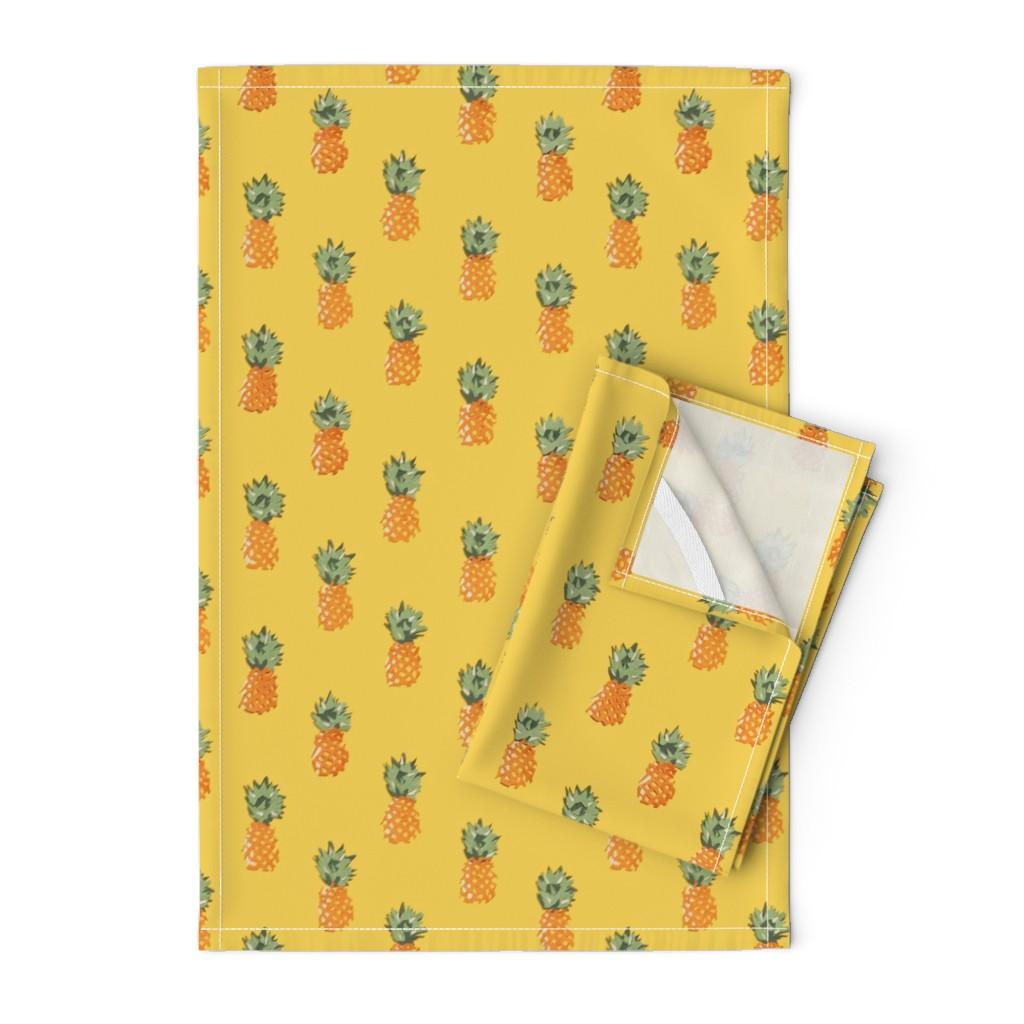 Orpington Tea Towels featuring Cuban Pineapples by imagineattic