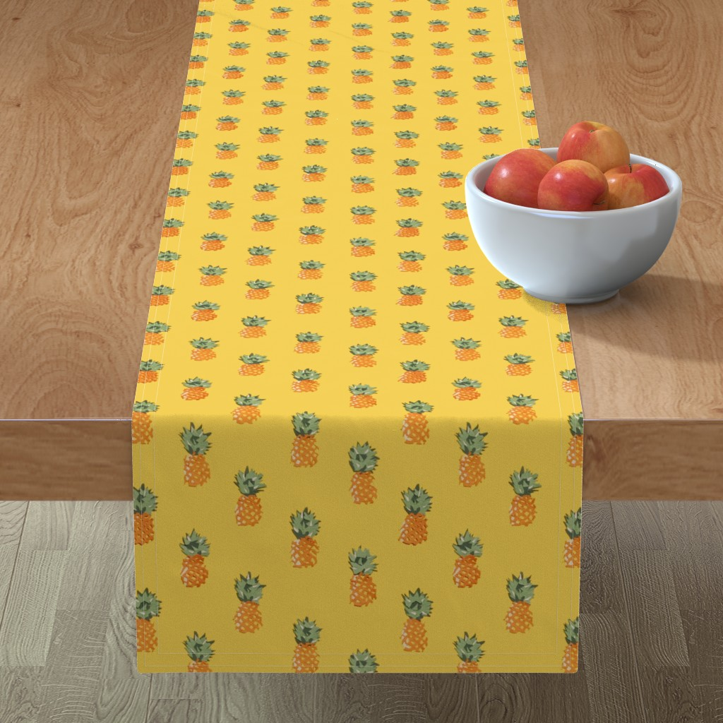 Minorca Table Runner featuring Cuban Pineapples by imagineattic