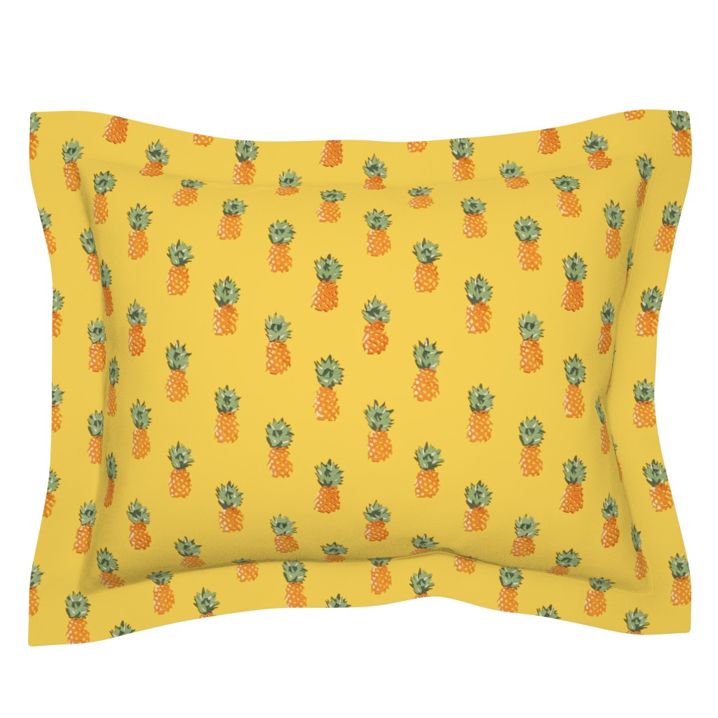 Sebright Pillow Sham featuring Cuban Pineapples by imagineattic
