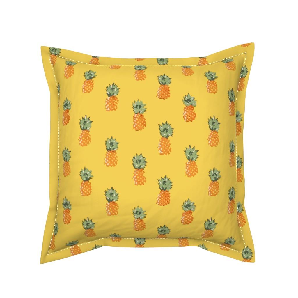 Serama Throw Pillow featuring Cuban Pineapples by imagineattic