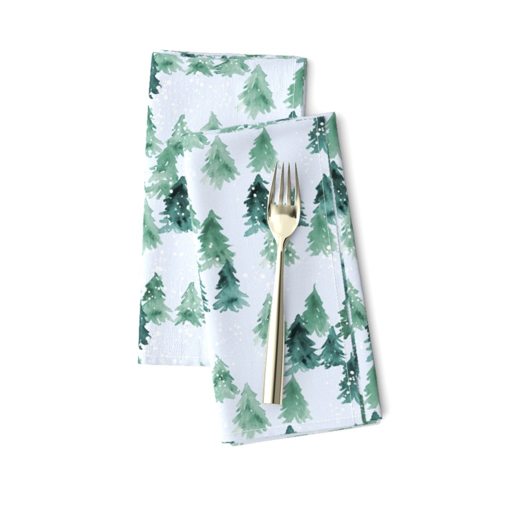 Amarela Dinner Napkins featuring Chalet_View by joy&ink
