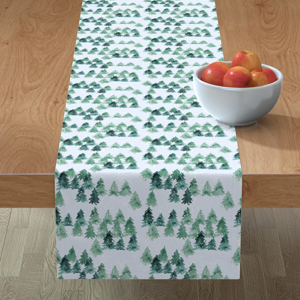 Minorca Table Runner featuring Chalet_View by joy&ink