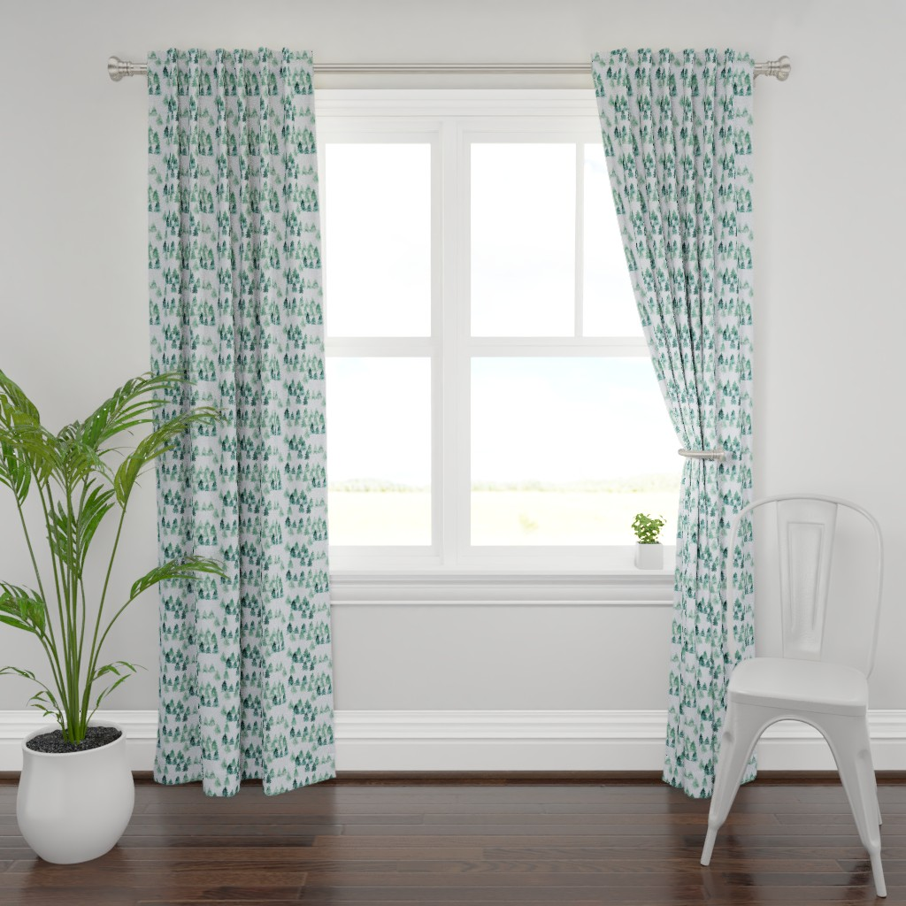 Plymouth Curtain Panel featuring Chalet_View by joy&ink
