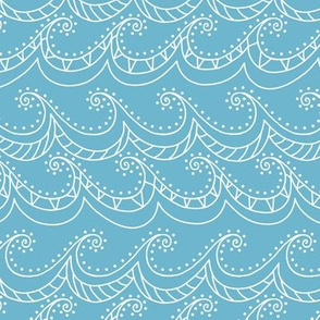 Whichway Waves - sea glass blue