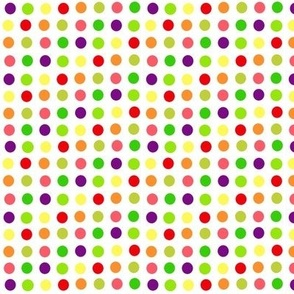fruit dots on white