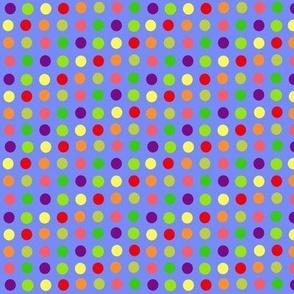 fruit dots on blue