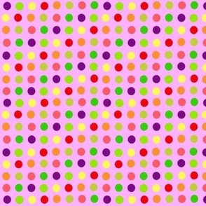 fruit dots on pink