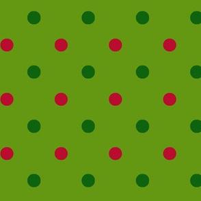 Lime Green Christmas Dot