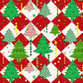 Festive Holiday Trees