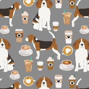 beagles coffee cute coffee beagle dogs fabric cute beagles design