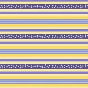 FNB1 - Fizz-n-Bubble Lemon and Violet crosswise stripes