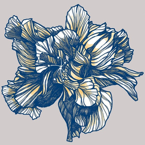 Hibiscus_Fabric_Delft_Yellow_centered