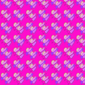 Arrow Hearts on Pink