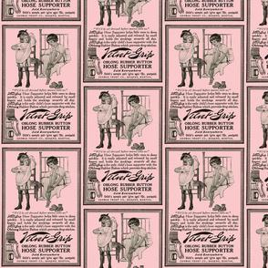 1915 velvet grip garters advertisement