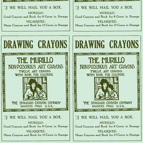 1915 non-poisonous crayons advertisement