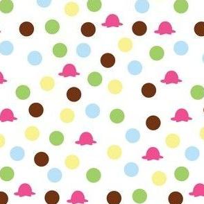 Ice cream dots