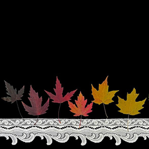 Rainbow Maple Leaves and Lace - Large Scale
