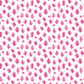 Raw western indian summer cactus garden black and white pink XS