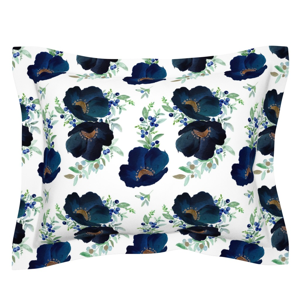 Sebright Pillow Sham featuring Blueberry Fields  by shopcabin