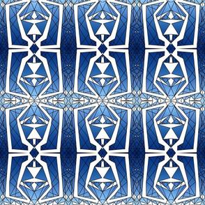 Art Deco Glass- Ombre Blue