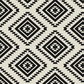Aztec LG - Charcoal, Chalk