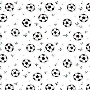Soccer ball fun sports illustration design grass boys white SMALL