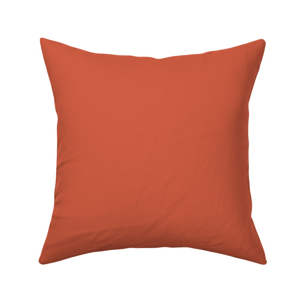Catalan Throw Pillow featuring Bright Trees Red Solid by anniecdesigns