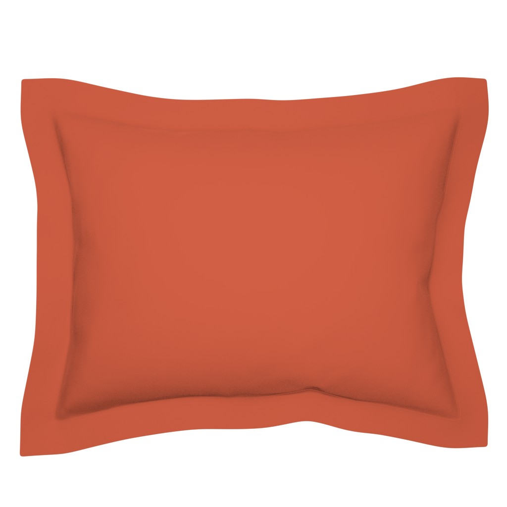 Sebright Pillow Sham featuring Bright Trees Red Solid by anniecdesigns