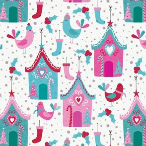 Joyful Birdhouse-Pink