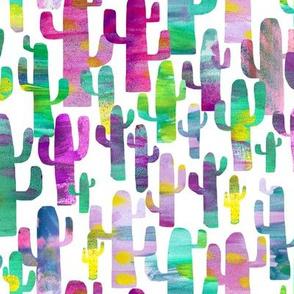 Watercolor Saguaro Cactus Pink