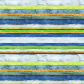 Green Wheels Multicolored Stripes