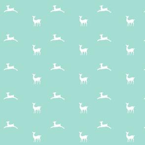 Deer 2 - MED58 mint green white