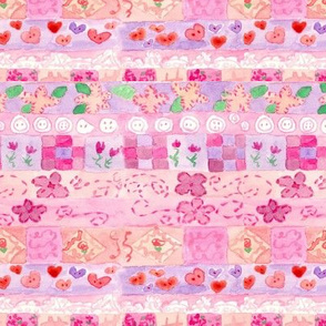 Pink Sampler Stripe