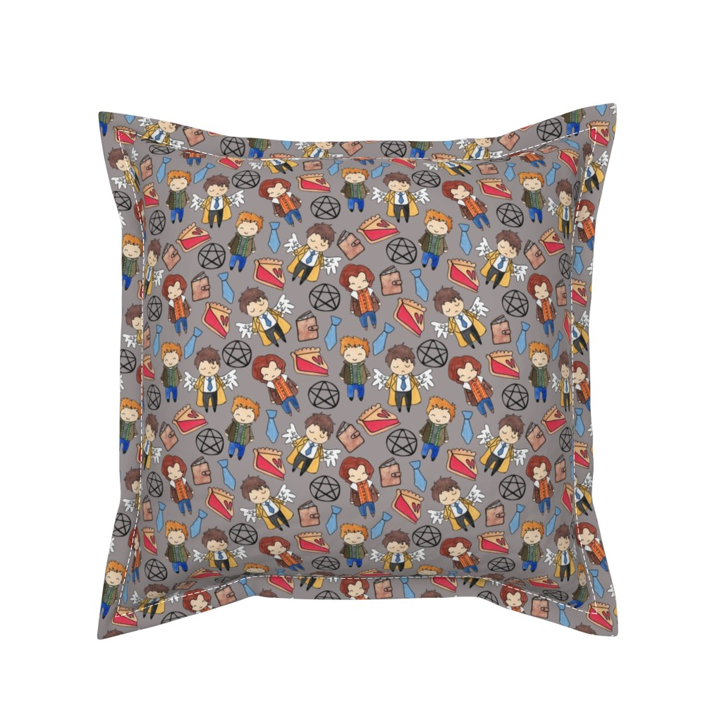 Serama Throw Pillow featuring Hello Quirky Supernatural by helloquirkydesign