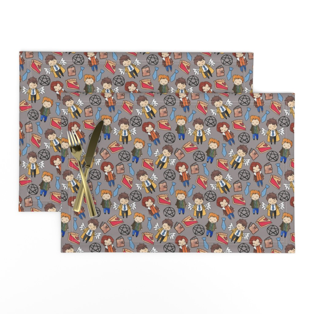 Lamona Cloth Placemats featuring Hello Quirky Supernatural by helloquirkydesign