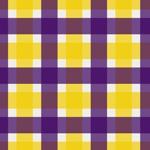 Plaid - Purple & Gold 1