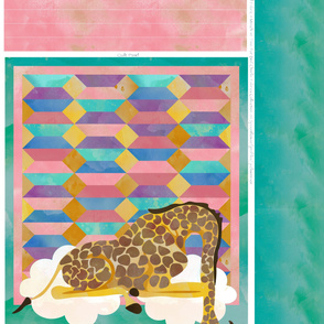 Sleeping Giraffe Quilt