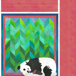 Sleeping Panda Bear Quilt