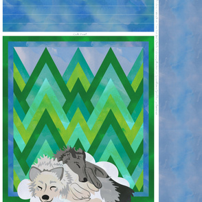 Sleeping Wolves Quilt