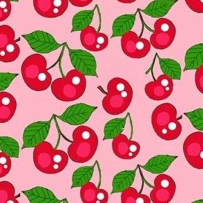 Cherries on Pink