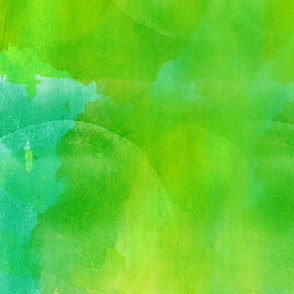 Hand painted watercolor, Lime Green Fabric