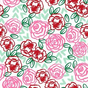 roses // vintage roses florals fabric cute rose design best vintage floral rose fabrics cute roses