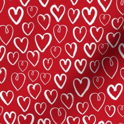 Heart painting Colorful Hearts Heart Print Kids rooms Print Nursery Watercolor Hearts Rainbow Hearts Hearts Hearts Summer Print