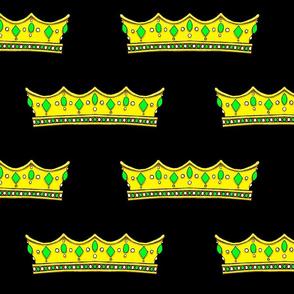 Green Tiara 2 -Black Background