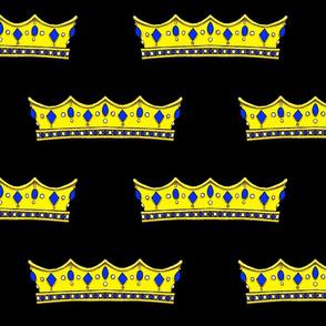 Blue Tiara 2- Black Backgound