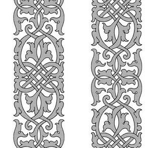 Detailed Tudor Floral Knotwork