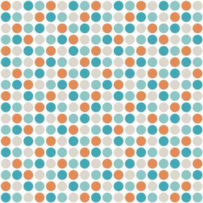 Polka Dots Crosshatched